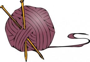 knitting yarn needles clip art .