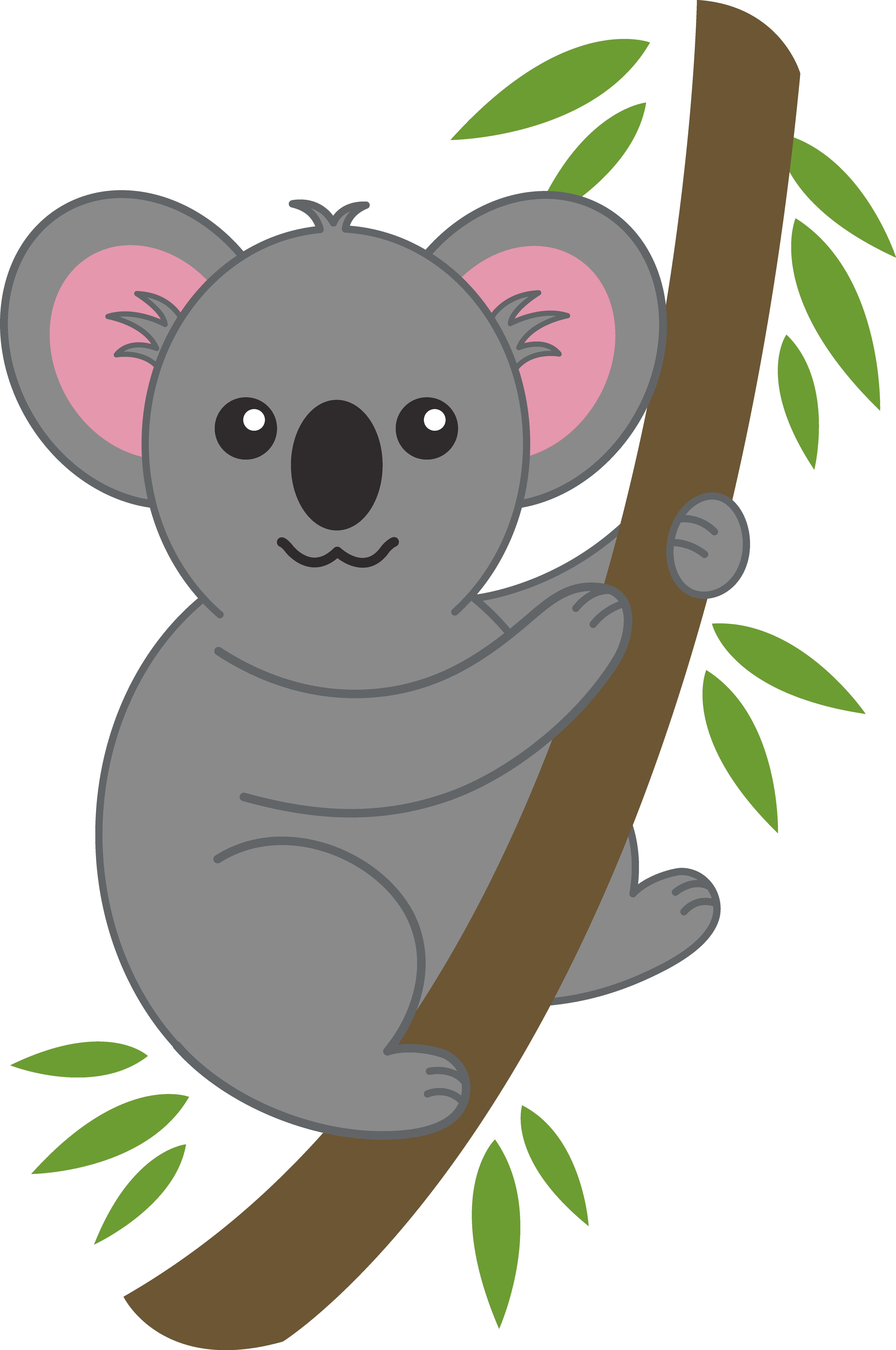 koala bear clip art | Cute Koala on Tree Branch - Free Clip Art ..