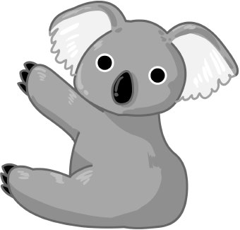 Koala Bear Clip Art u0026 Koala Bear Clip Art Clip Art Images .