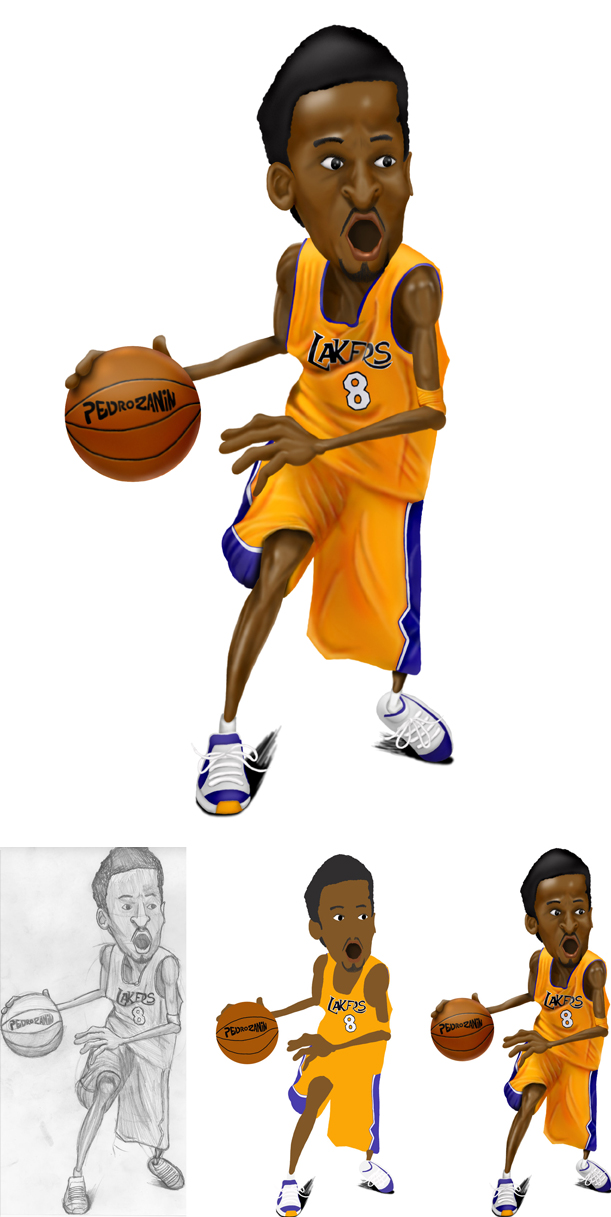 Kobe Bryant by pedrozanin ClipartLook.com