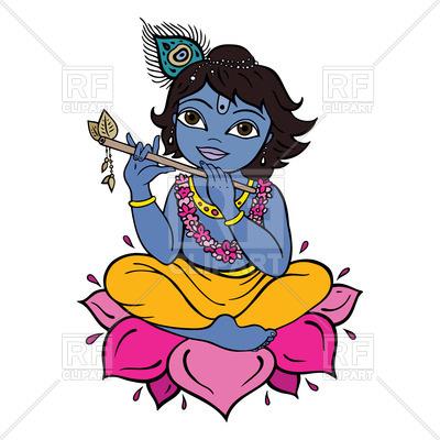 Hindu God Krishna - cartoon style, 51387, download royalty-free vector  vector image ClipartLook.com