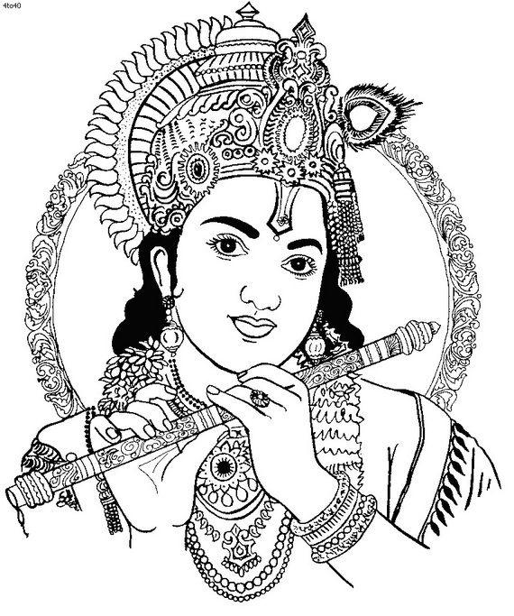 pin Krishna clipart black and white #2 - Radha Krishna Black And White PNG