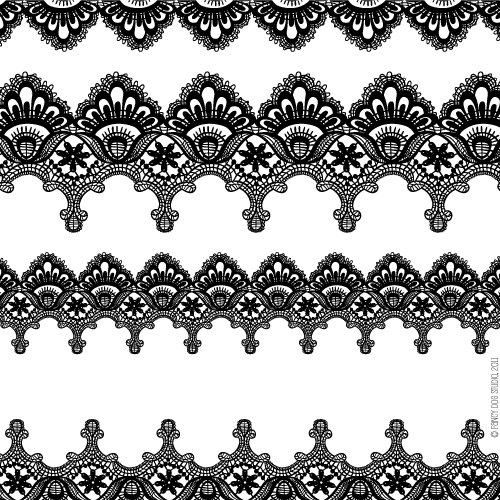 Lace patterns and Clip art .