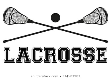 Lacrosse sticks and ball. Fla - Lacrosse Clipart