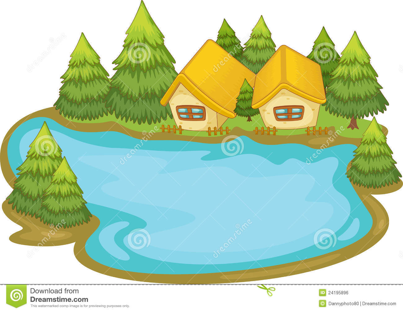 Cartoon Lake Clipart #1