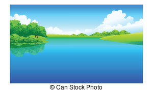 . Hdclipartall.com Lake And Green Landscape - This Illustration Is A Common.