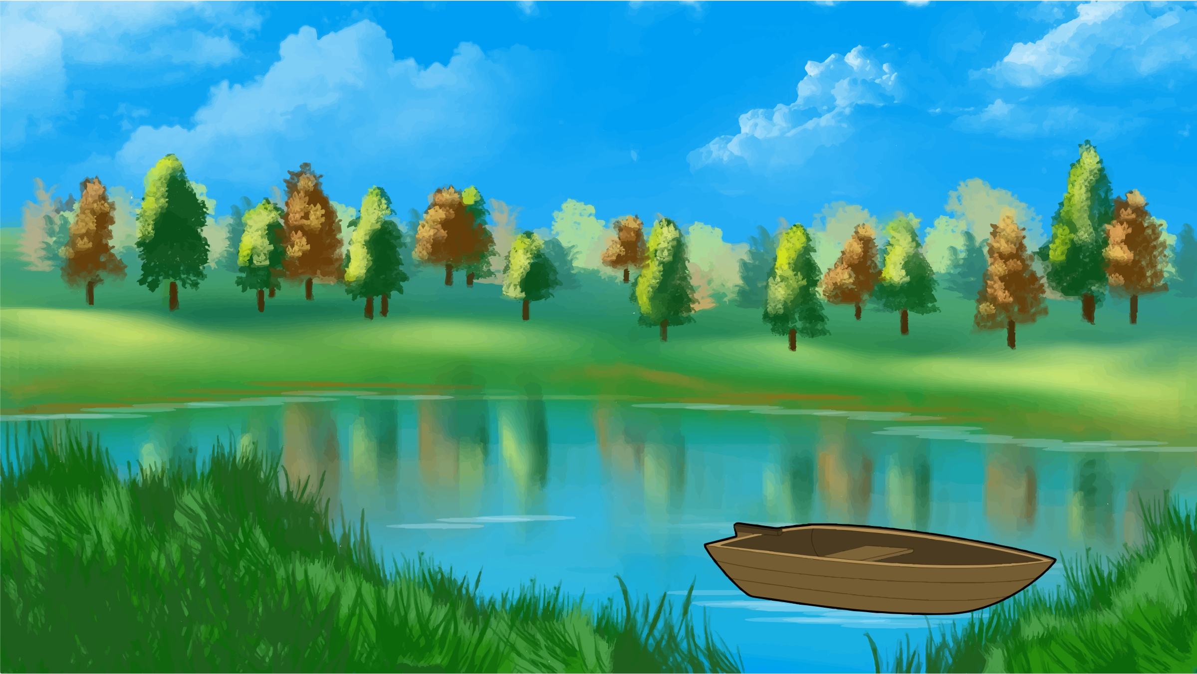 Pond Clipart Lake #12