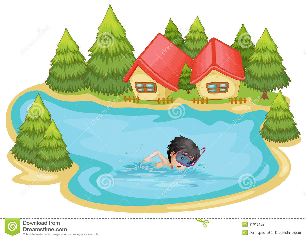 River Clipart Lake Swimming #3