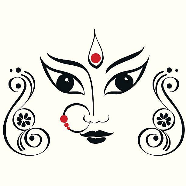 Durga, Saraswati, Lakshmi illustration. vector art illustration