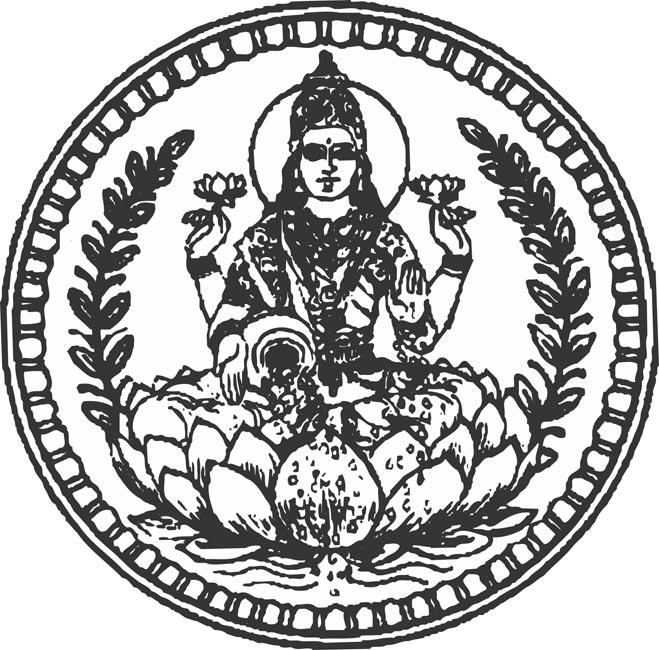 Gold coin lakshmi munivar indian god vector clipart