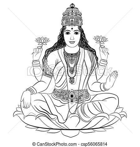 Indian goddess Lakshmi - csp56065814