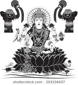 Indian Goddess Lakshmi vector illustration
