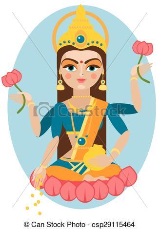 Vector Mata Lakshmi