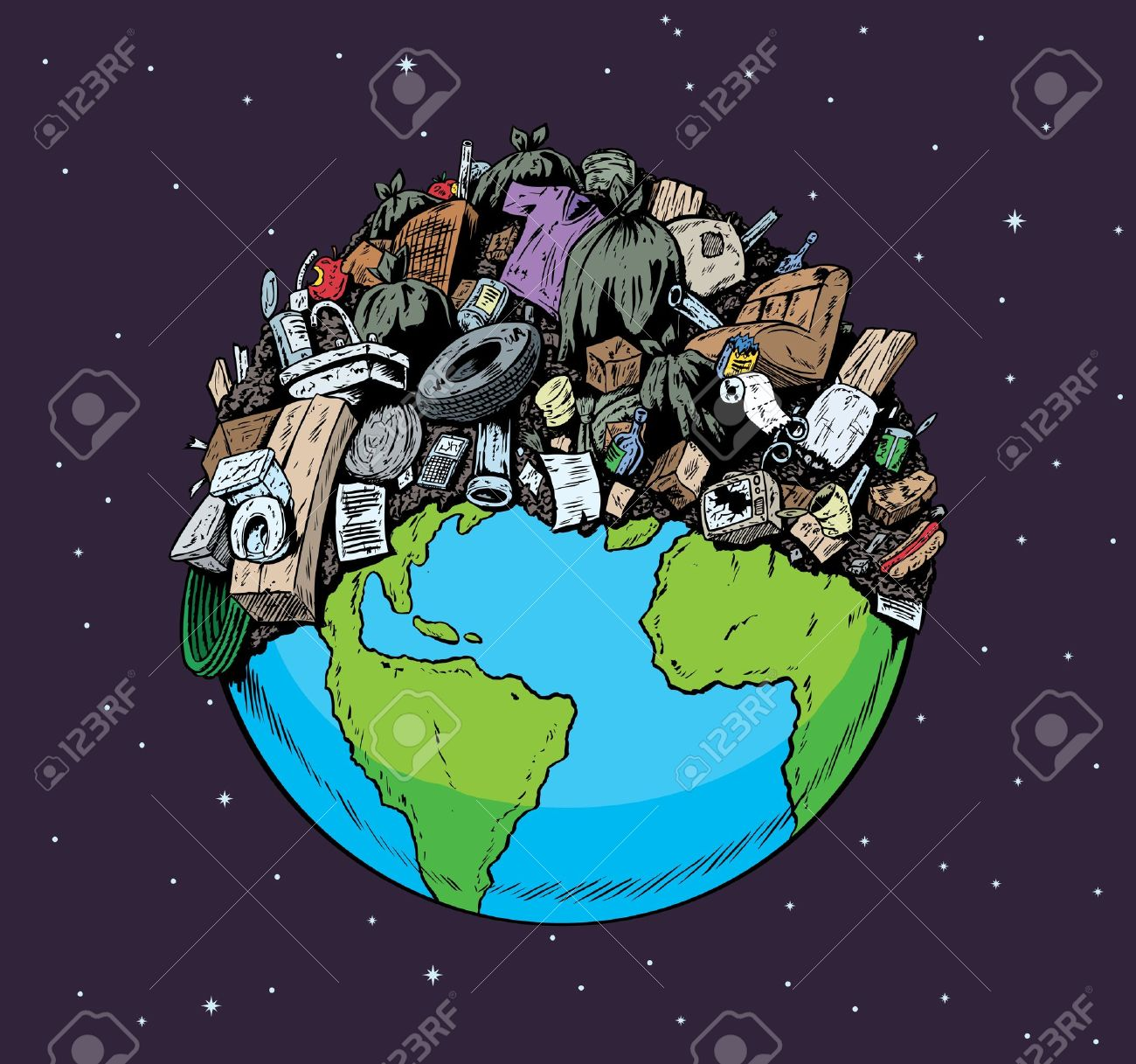 landfill: Polluted Planet