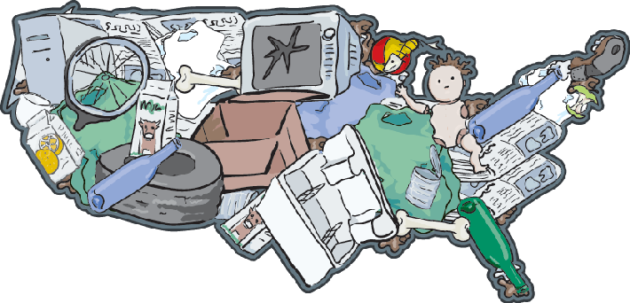 Landfill USA - The Importance of Recycling   Clipart