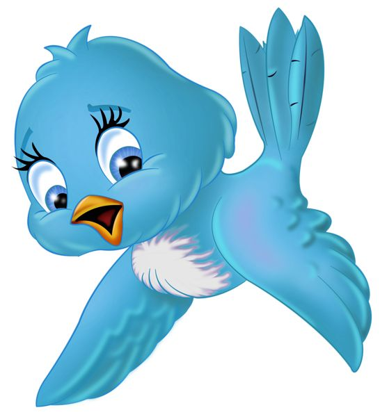 Large Blue Bird PNG Cartoon Clipart | Printable:Sticker | Clipart library
