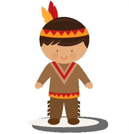 Large boy native american clip art
