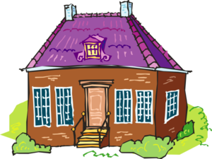 Large Brown Brick House Clip Art