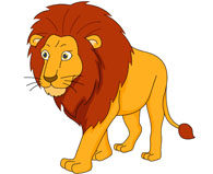 large male lion walking clipart. Size: 66 Kb