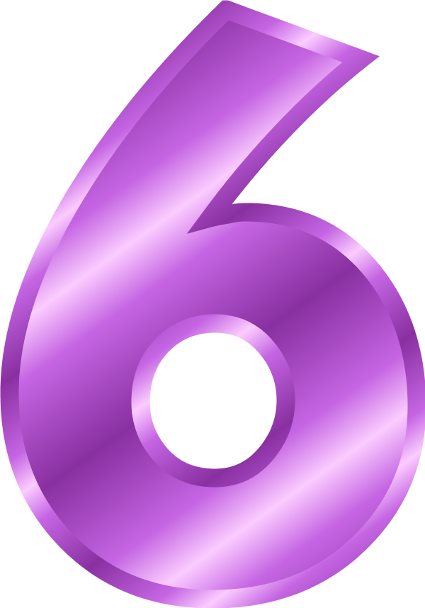 Large Number 6 Clipart
