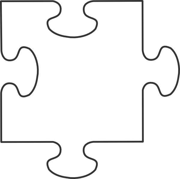 Large Puzzle Piece Template; Puzzle Piece Template | Printable ... Clipart ...