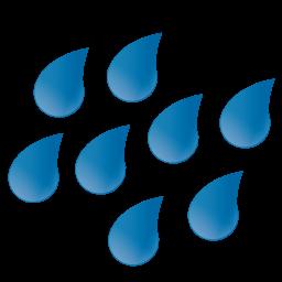 Large Raindrops Icon