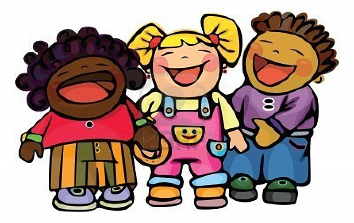 children laughing clipart