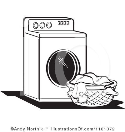 Laundry Basket Illustration | Royalty-Free (RF) Laundry Clipart Illustration by Andy Nortnik