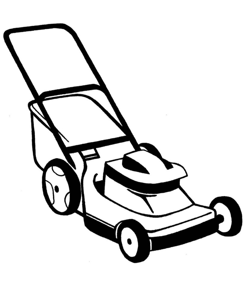 Lawn Mower Colouring Pages Page 3 Clipart Free Clip Art Images