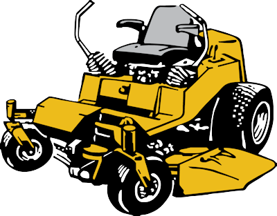 Lawn mower commercial lawn mowing clipart