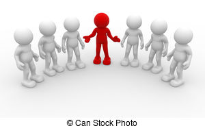 ... Leadership - 3d people -human character, group of person.