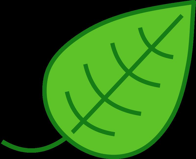 Leaf leaves clip art free vector image