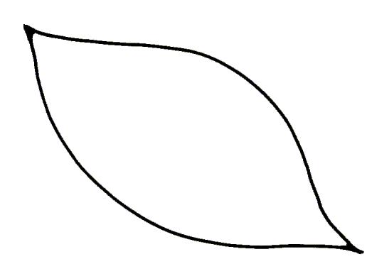 Leaf Outline Clip Art. Pics of leaf outline coloring .