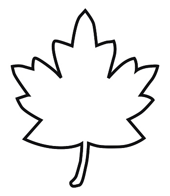 Maple leaf outline clipart - Leaf Outline Images