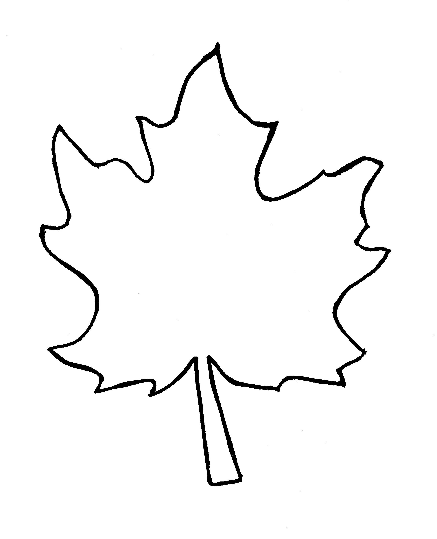 Leaf outline leaf clipart outline 2