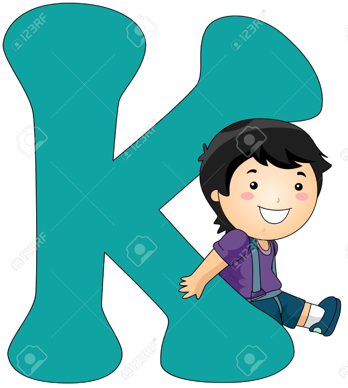 Leaning Against a Letter K .