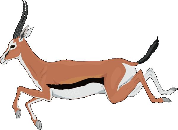 Leaping Antelope Clip Art