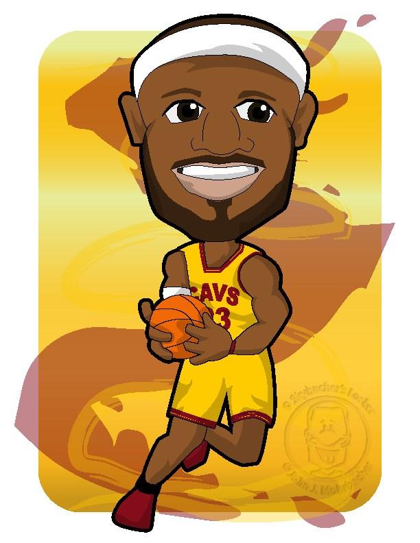 cavs lebron, Lebron cartoon, cavs basketball, cavs clipart
