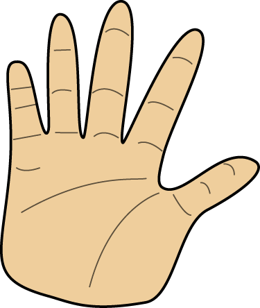 Left Hand Clip Art Image Blank Left Human Hand This Image Is A