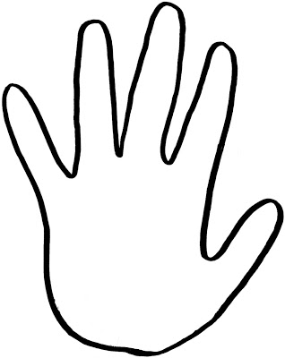 Left Hand Print Clipart. handprint outline clipart