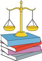 legal balance with law books. Size: 59 Kb