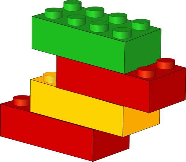 Lego blocks black and white clipart free clip art image image