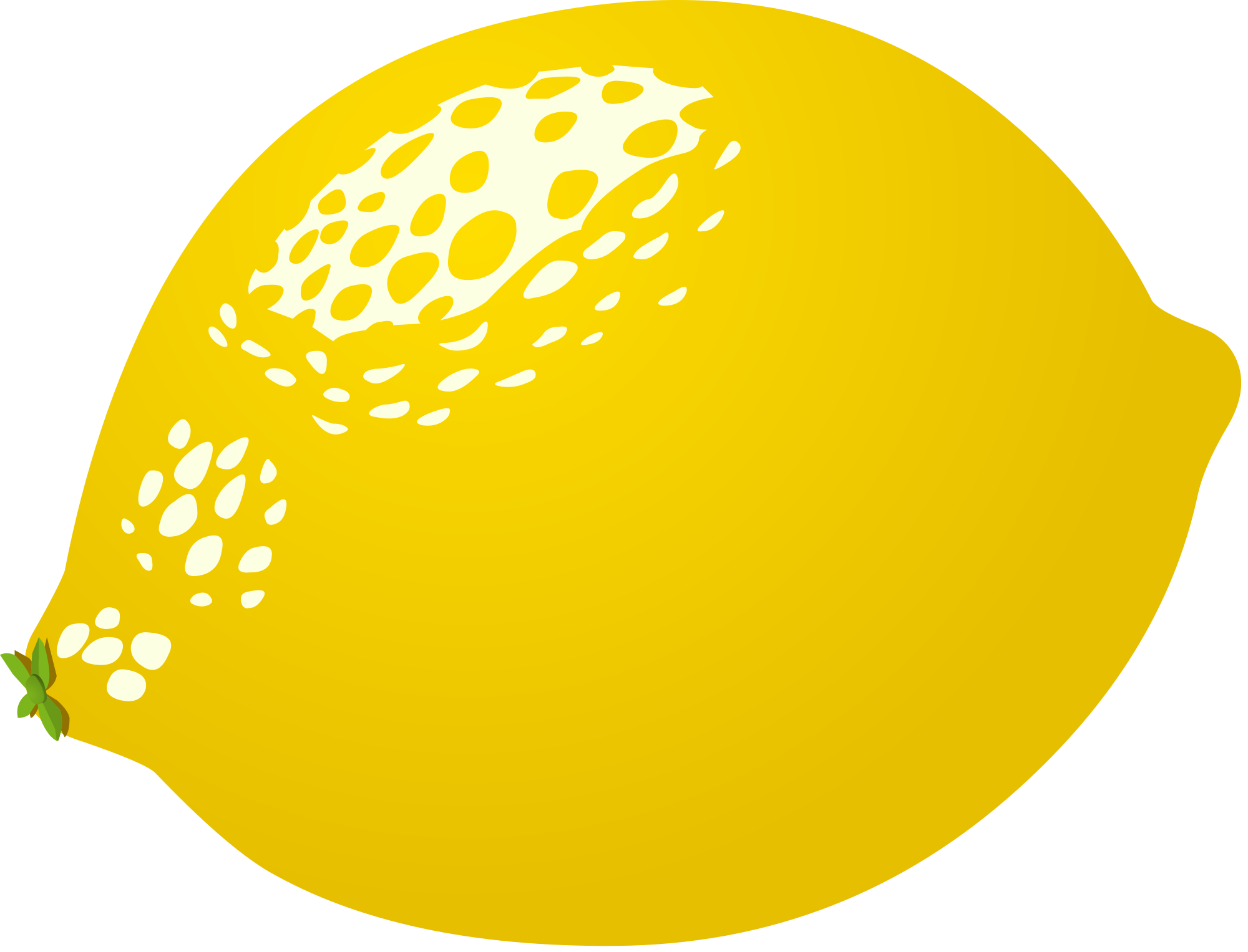 Lemon clipart vector #4