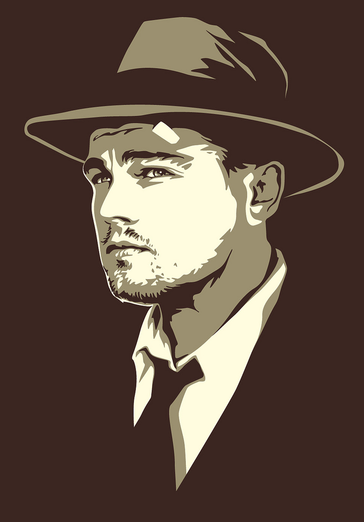 . hdclipartall.com Leonardo DiCaprio Shutter Island Art In A Vintage Book Style   by Mel  Marcelo