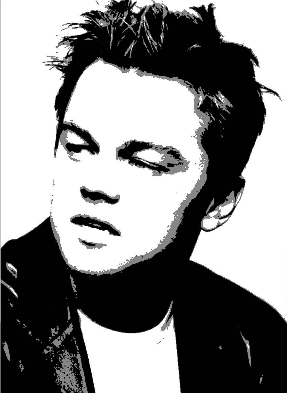 Leonardo DiCaprio u2013 Stencil For Canvas u2013 BW | William Bougie u003d Never Bored