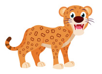 crouching african leopard clipart. Size: 77 Kb
