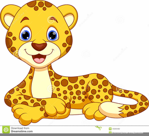 Cute Leopard Clipart Image