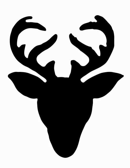 Less-Than-Perfect Life of Bliss: No-Sew Deer Head Silhouette Sweater More. stag head silhouette clip art ...