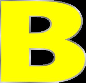 Letter B clip art - vector .