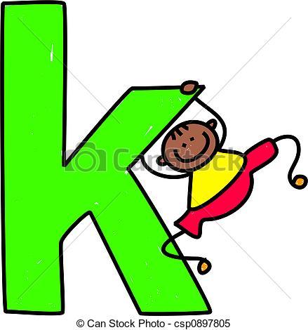 ... letter K boy - happy little ethnic boy swinging on giant... ...